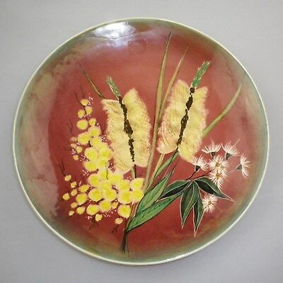 Large Studio Anna Handpainted Display Plate Depicting Australian Wildflowers