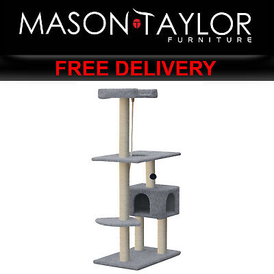 Mason Taylor 184cm Cat Tree Scratching Post Scratcher- Grey PET-CAT-CP003-GR