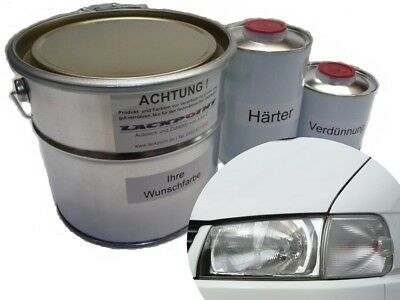 3,5 Liter Set 2K Car Paint VW R902 Grey-White White No Clear Coat NEW Tuning