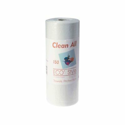 Clean all Serviettes Rouleau Plastifiees 150 Feuilles 53 X 40 Cm