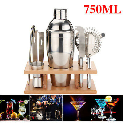 750ML Stainless Steel Cocktail Shaker Accessories Set Barware Bar Mixing Making