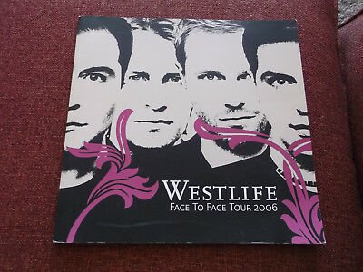 Westlife Face To Face Tour, 2006, Programme.