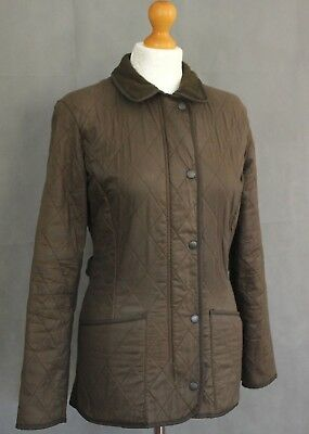 BARBOUR Ladies SOFT DURACOTTON POLARQUILT Brown COAT / JACKET Size - UK 8 - US 4