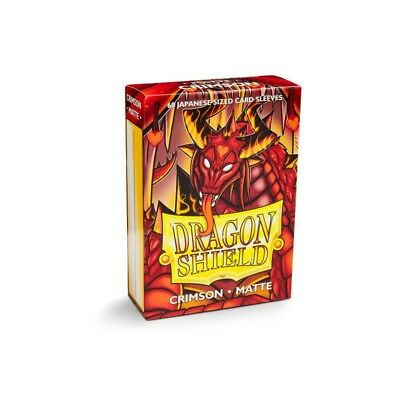 Dragon Shield Small Sleeves - Japanese Matte Crimson (60 bustine)