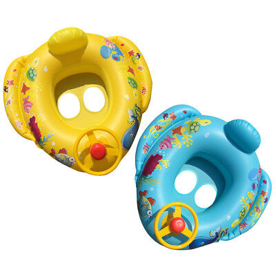 Inflatable Float Seat Boat Baby Pool Swim Ring Swimming Safe Raft Kids Water Car