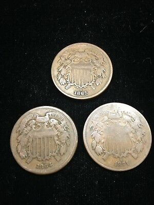 Three Nice Two Cent Pieces