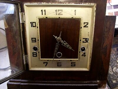 Art Deco 1930s Mantel Clock Westminster Chimes Spares/ Repairs