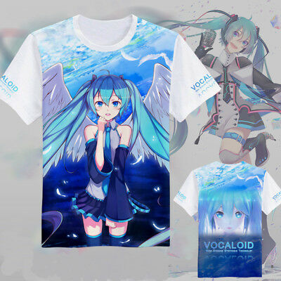 New Anime VOCALOID Cosplay Hatsune Miku Full color Tee Casual Top T-Shirt M-XXL