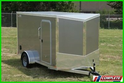 All Aluminum Frame 6x12 V-Nose Enclosed Cargo Trailer: Screwless, LED, Ramp