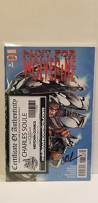 Hunt For Wolverine #1 Steve McNiven Cover Signed By Charles Soule Marvel Comics