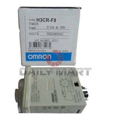 New in Box Omron H3CR-F8 Solid-State Twin Timer AC100~240 8-Pin Octal 5A@250VAC
