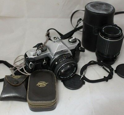 PENTAX MX SLR Camera Pentax 1:1.7 50mm + Pentax 1:4 100mm + Light Meters -254