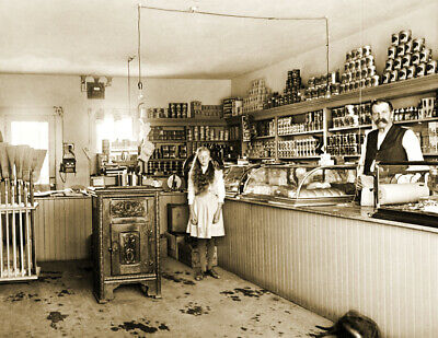 "1903 Edgar Grocery Store, Santa Ana, CA Vintage Old Photo 8.5"" x 11"" Reprint"