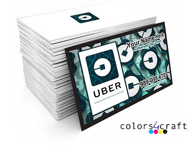 50 Full Color Uber  Business Cards  - Rush Printing Service - Elegant Cards