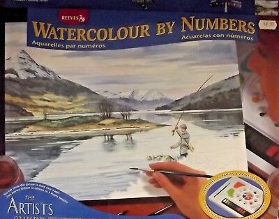 Reeves The Artists Collection Watercolour by Numbers Painting Set - various