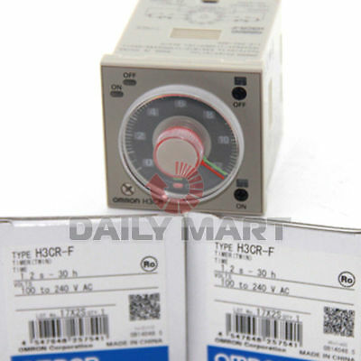 NEW Omron H3CR-F Solid State Time Timer Relay 100~240VAC 1.2s~30h FREE SHIP