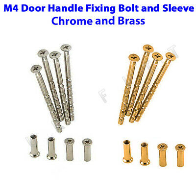 M4 Connecting Screw and Sleeve Chrome and Brass Back to Back for Door Handle