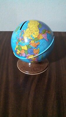 The Ohio Art Co Vintage Tin Litho Metal World Globe Made In Usa