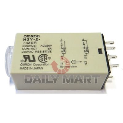Omron New H3Y-2 220Vac 10S Plc (Ab8) Solid State Terminal Delay Timer Time Relay
