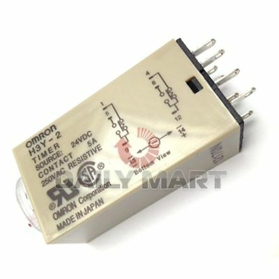 Omron New H3Y-2 24Vdc Dc24 10S Plc Terminal Timer Time Relay Solid State