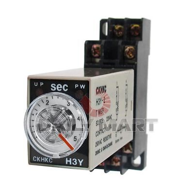 Omron New H3Y-2 Ac220V 5S Plc Dpdt 5 Seconds Terminal Timer Time Relay