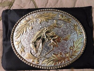 Amazing Rodeo Belt Buckle Antique Vintage Just Beautiful