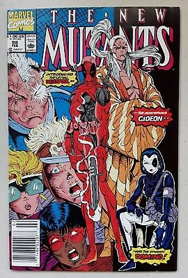 The New Mutants #98 - First Appearance of Deadpool Feb 1991 Marvel. Very Nice!!