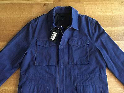 WINGS + HORNS NEW Mens Navy Blue Woven Field Jacket Size L Large $650 NWT