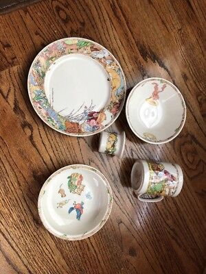 Villeroy & Boch Child Dishes LOT OF 5 Pieces LITTLE CAT unused condition