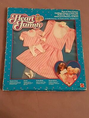 The Heart Family Mattel 2625 Vintage 1985 Ovp Mom Baby Fashion Mode Derby-Kleid