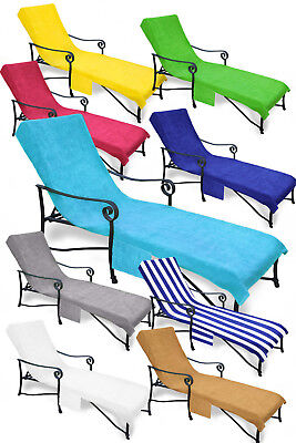 Pool Side Chaise Cover, Pool lounge, Lawn & Patio Chair Cover w/ Pocket 7 colors