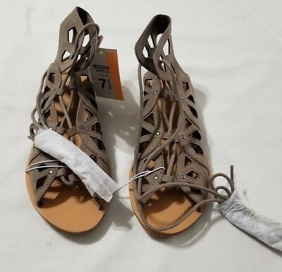 15c262e80bd New Women s Mossimo Supply Gray Taupe Nadine Gladiator Sandals Shoes Size  7.5