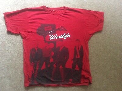 Rare Westlife Ofiicial BACK HOME Tour T-Shirt Red with Dates Size XL