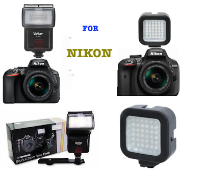 Speedlight Flash + 36 LIGHT LED for Nikon D7100 D7000 D5100 D3200 D3100 D3400