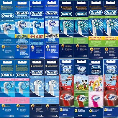 1 2 3 4 5 6 Original BRAUN Oral B Precision Clean Brossettes de Rechange Brosses