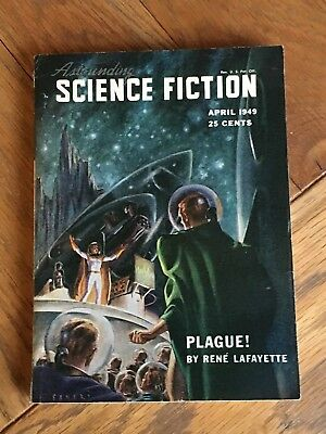 Astounding Science Fiction US SF digest April 1949 - L. Ron Hubbard etc
