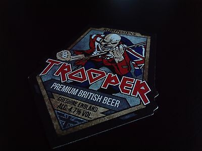 Iron Maiden - Robinsons - The Trooper - Beer Mat !!!!!!!!!!!!!!!!!!
