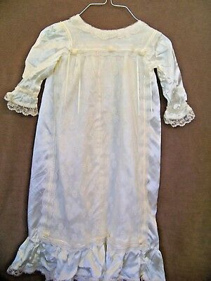 Vintage off-white christening baby infant gown