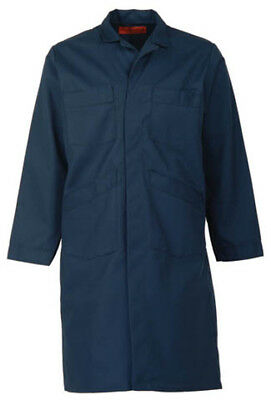 NAVY BLUE SHOP COAT (up to size 66 in regular and tall length-NO EXTRA CHARGE)
