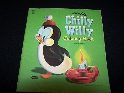 VINTAGE Walter Lantz CHILLY WILLY Coloring Book 1957 NEW