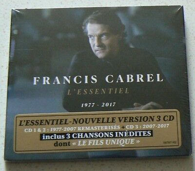 L'ESSENTIEL 1977 - 2017 (Best of) CABREL FRANCIS  (CD x3 Digipack)  NEUF SCELLE