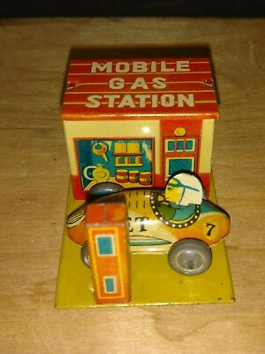"""Penny Toy """"Mobile Gas Station"""" & """"Jet"""" Racer (1 7/8"""" long) Near Mint Condition"""