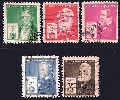 USA 1940 Famous Americans - Inventors set of 5 Used