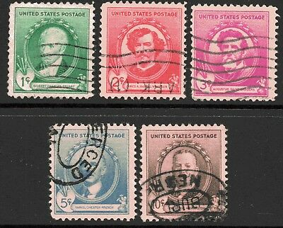 USA 1940 Famous Americans - Artists set of 5 Used