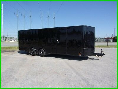 26ft car hauler motorcycle package enclosed Cargo trailer 8.5x24 spread axle New