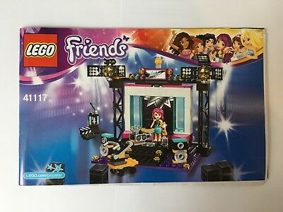 Lego Friends 41117 Pop Star Tv Studio Instructions Booklet Manual