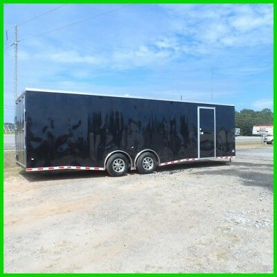 8.5x28 2ft  v nose car hauler spead torsion axles 14k enclosed Cargo trailer