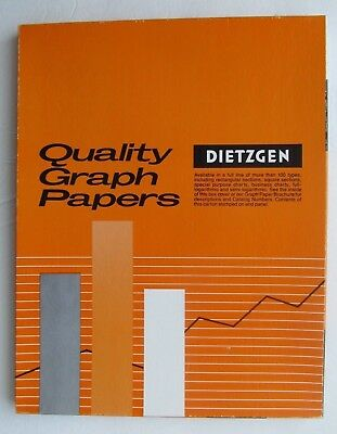 Dietzgen Vintage Graph Paper - 340-M  Millimeter Tracing (About 100 Sheets)