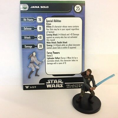 Star Wars Champions of the Force #54 Jaina Solo (VR) Miniature