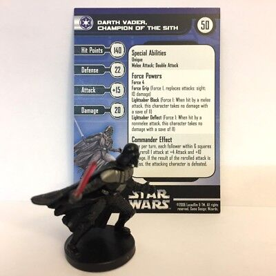 Star Wars Champions of the Force #49 Darth Vader, Champion of the Sith (VR) Mini